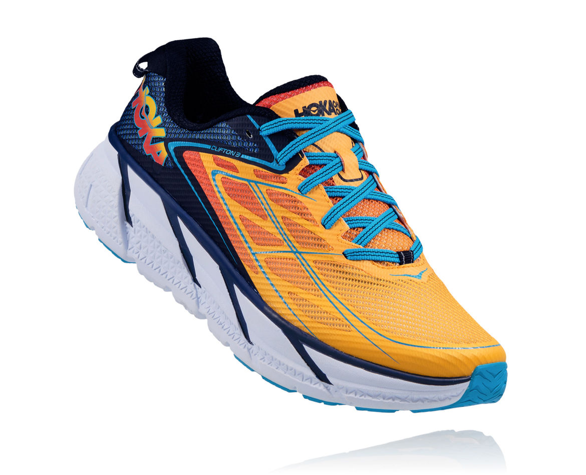 HOKA ONE ONE CLIFTON 3 M - Medieval Blue / Gold Fusion