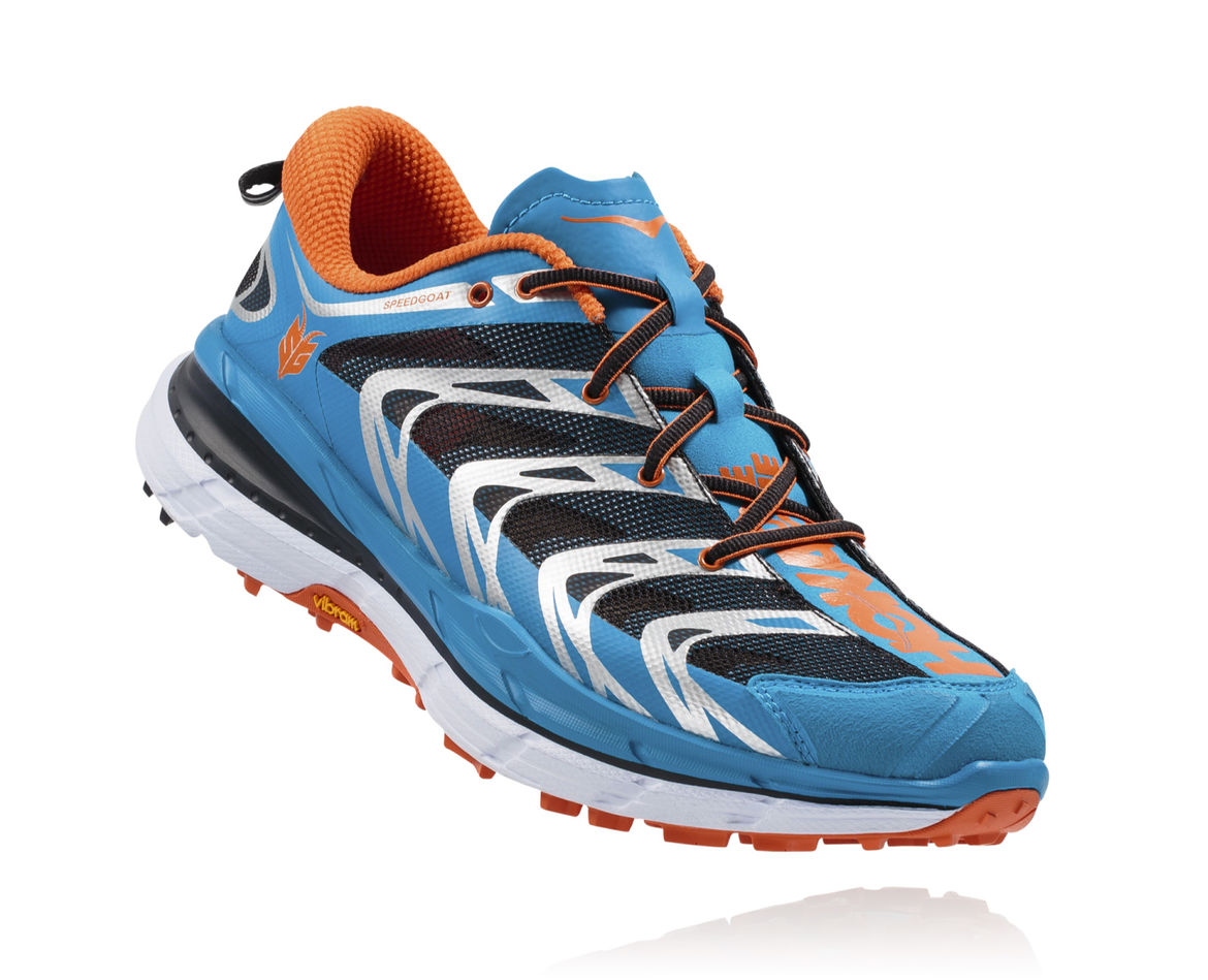 HOKA ONE ONE SPEEDGOAT M - Blue / Red Orange
