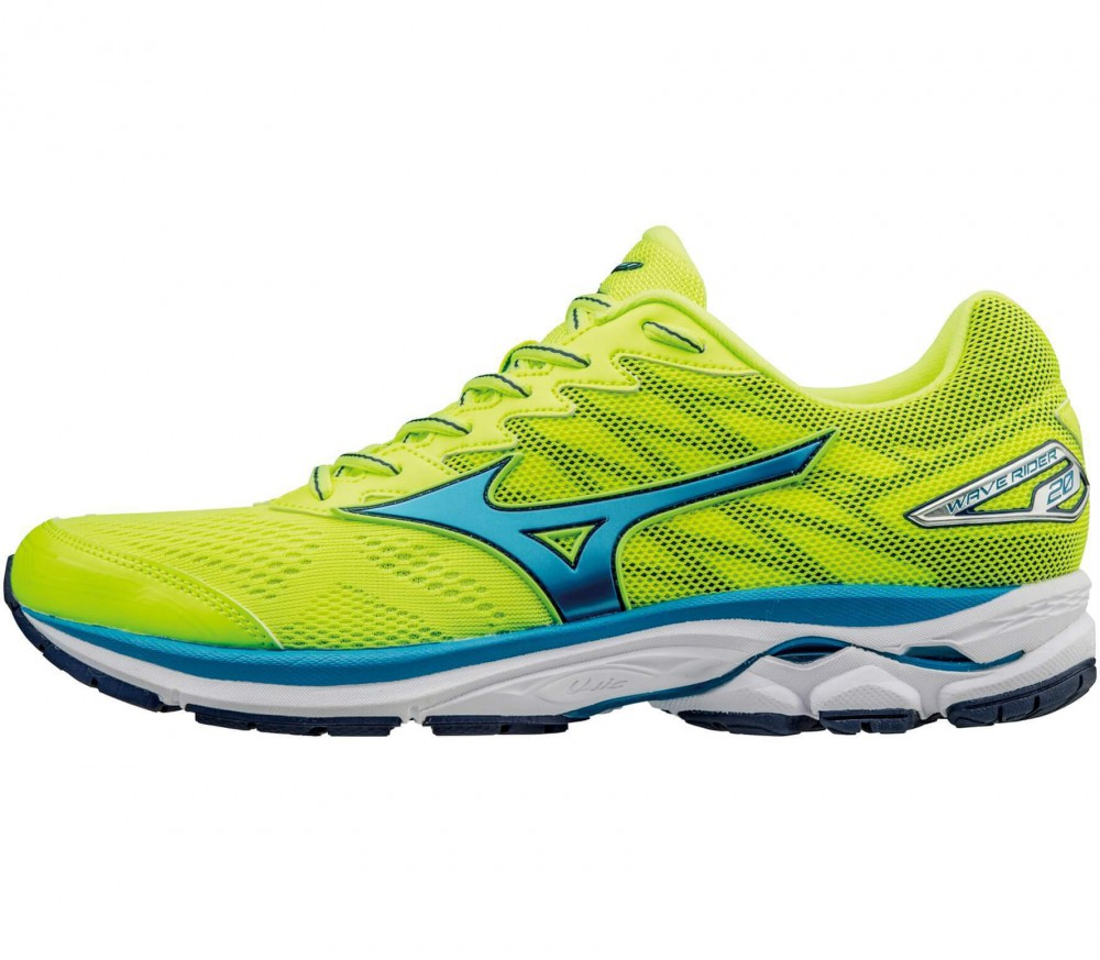 Mizuno WAVE RIDER 20 M - Yellow / Blue / Darkblue