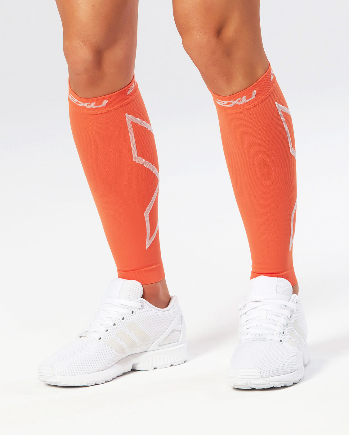 Компрессионные поддерживающие гетры 2XU Calf Sleeves - Orange