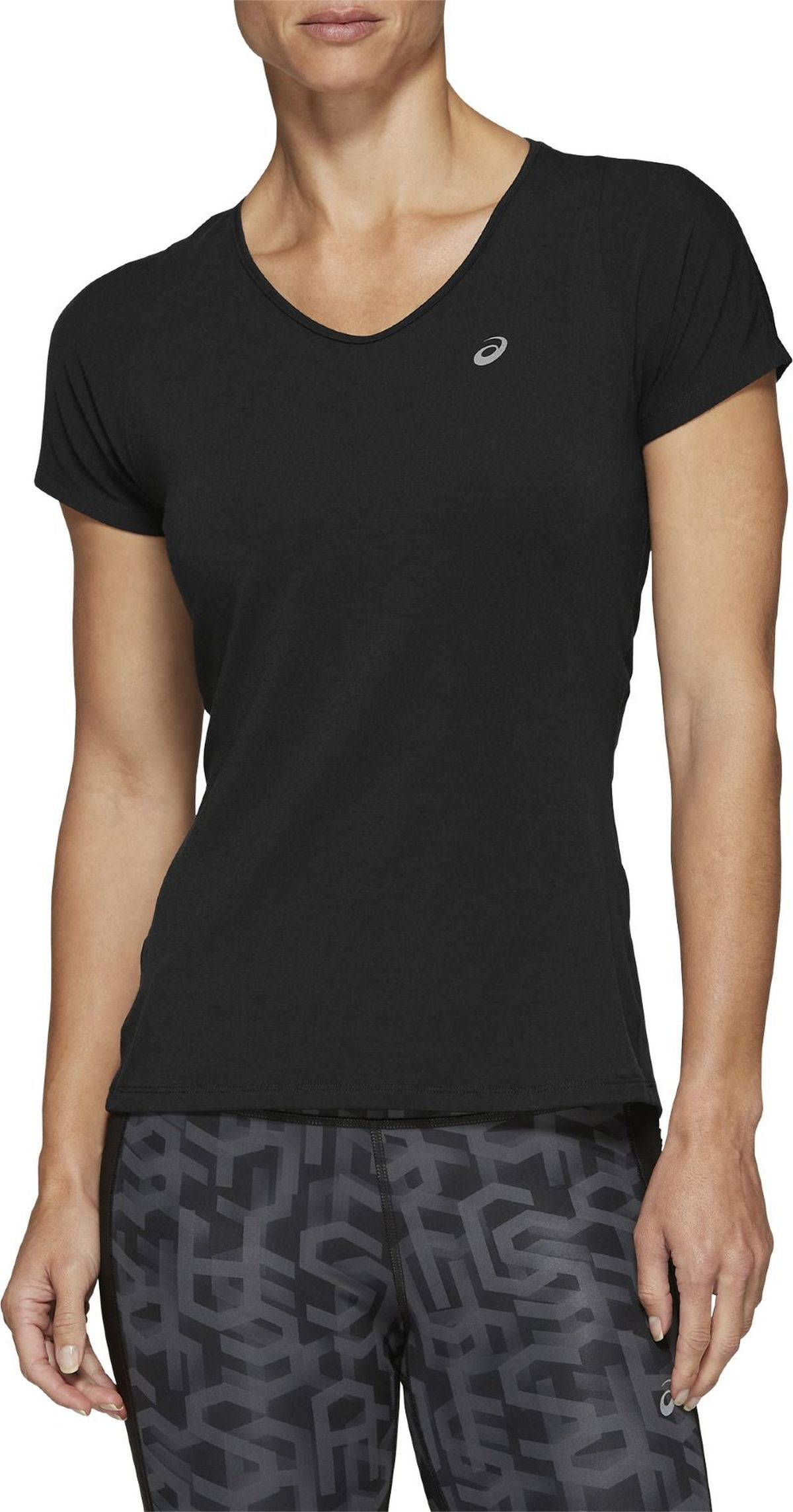 Футболка Asics V-NECK SS TOP - Performance Black