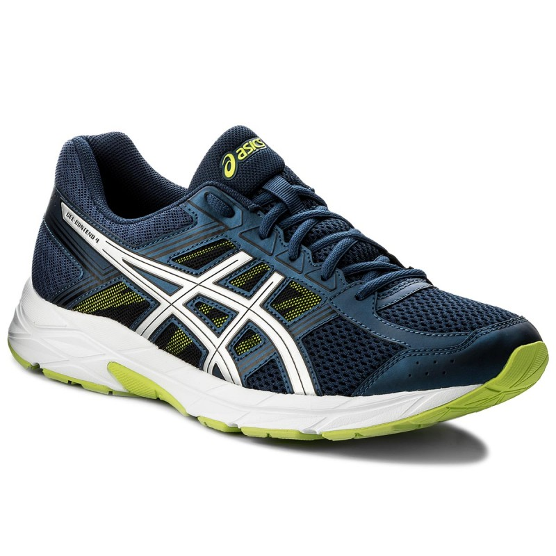 Asics GEL-CONTEND 4 M - Dark Blue / Silver / Safety Yellow