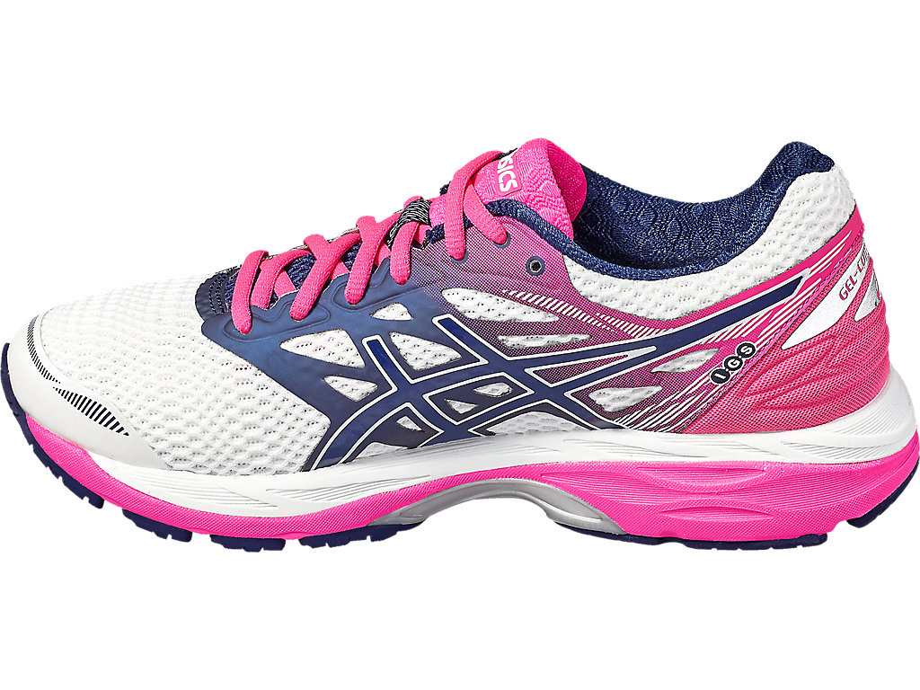 Asics GEL-CUMULUS 18 W - White / Indigo Blue / Hot Pink