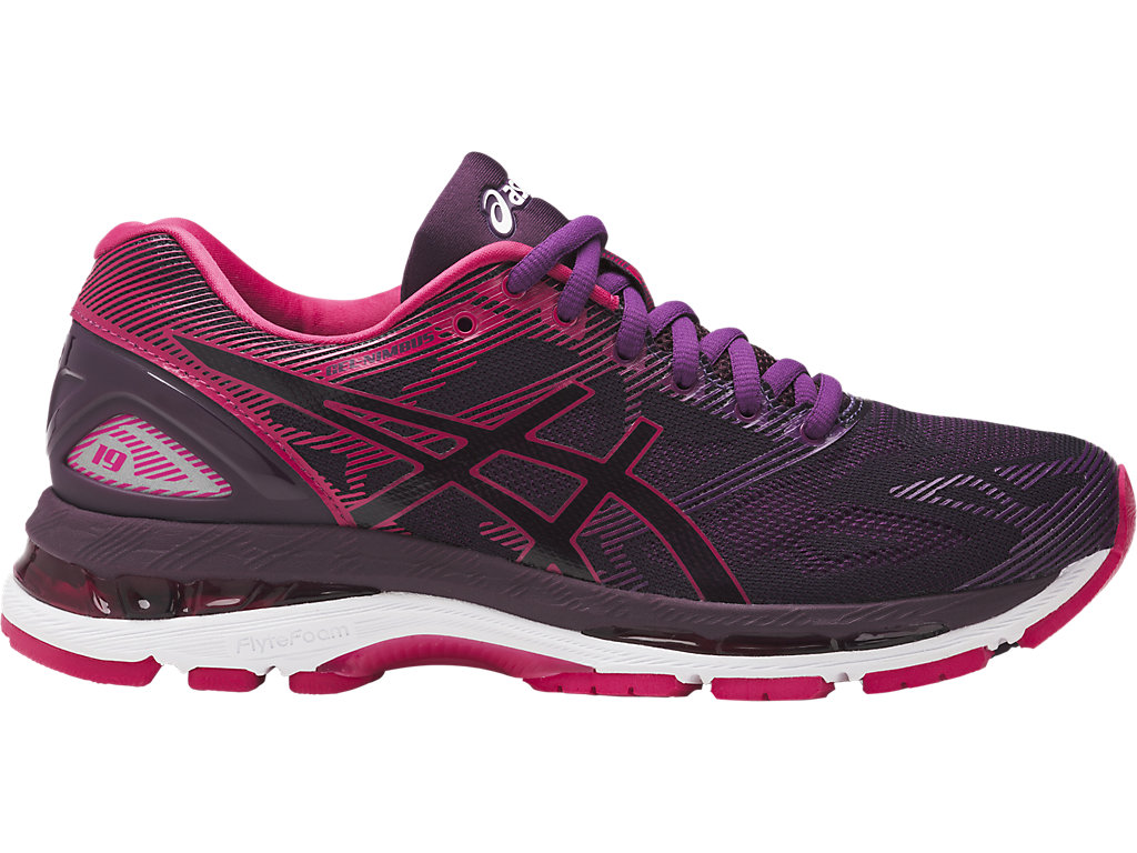 Asics GEL-NIMBUS 19 W - Black / Cosmo Pink / Winter Bloom