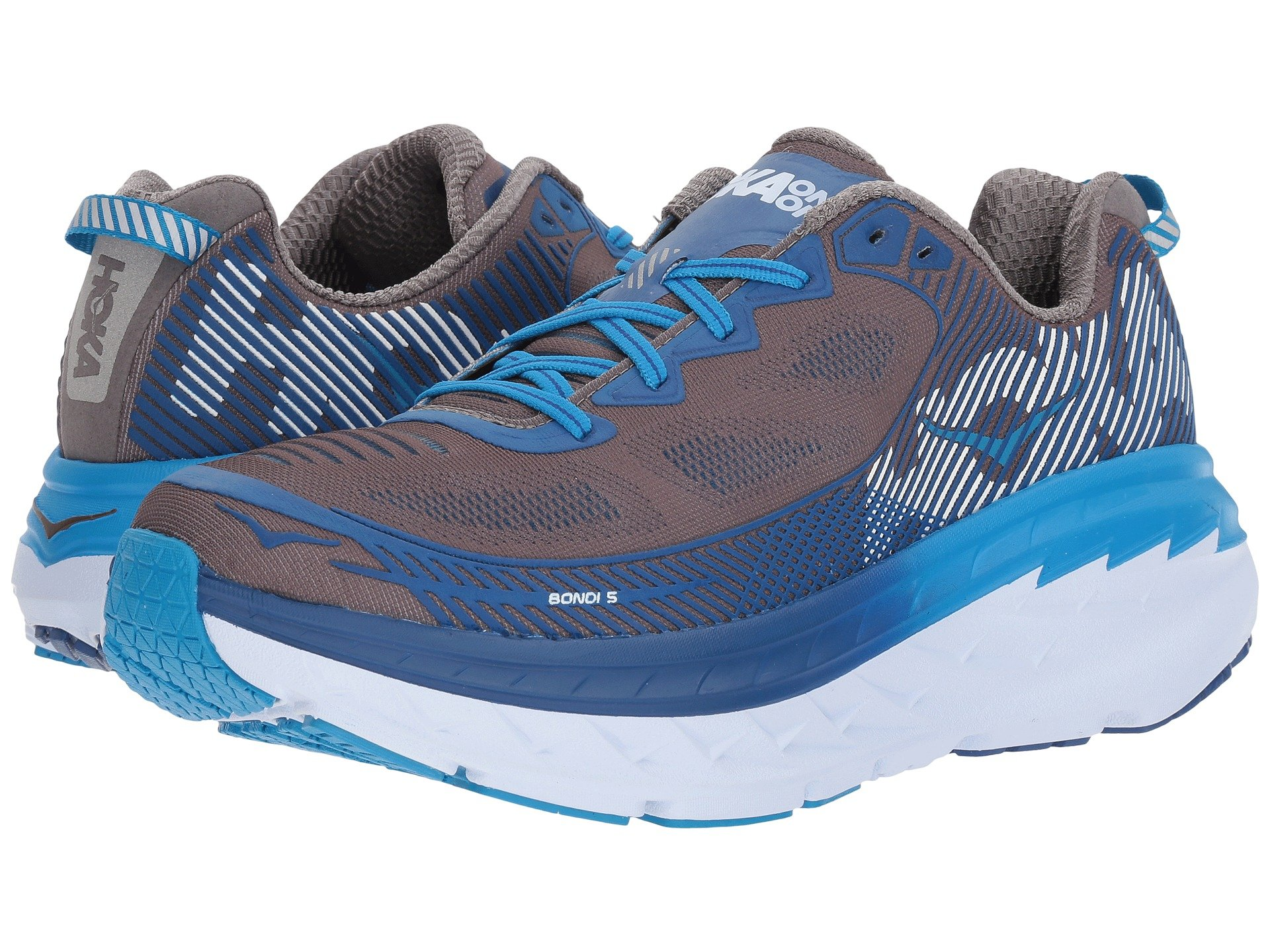 HOKA ONE ONE BONDI 5 M - Charcoal Grey / True Blue