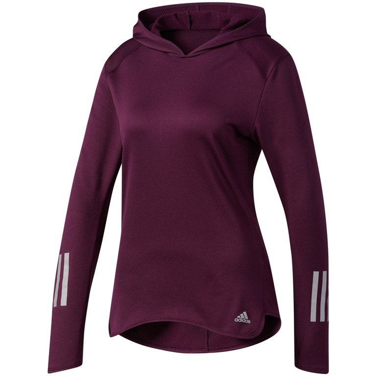 Худи для бега Adidas Response Climawarm W - Red Night