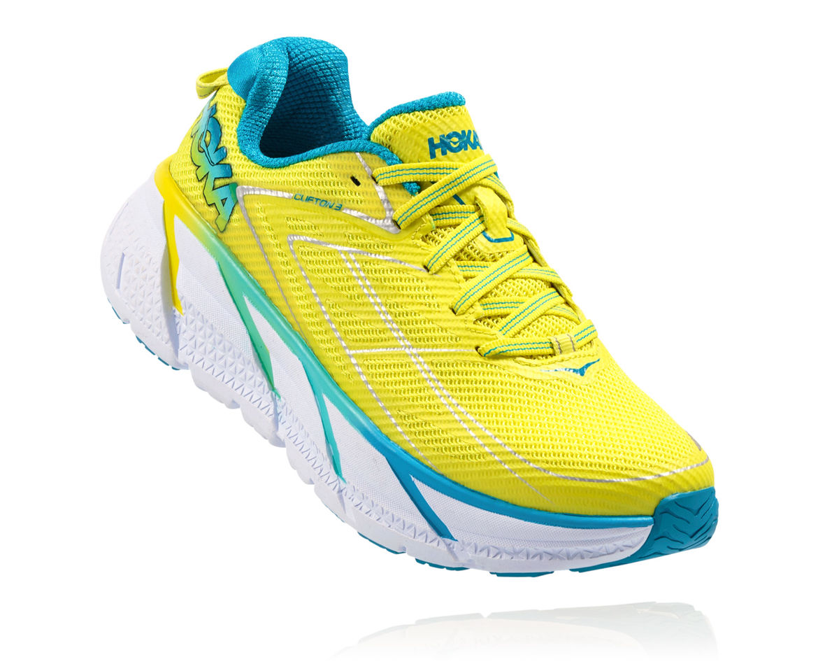 HOKA ONE ONE CLIFTON 3 W - Citrus/Blue Jewel