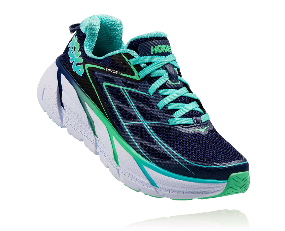 HOKA ONE ONE CLIFTON 3 W - Medieval Blue / Spring Bud
