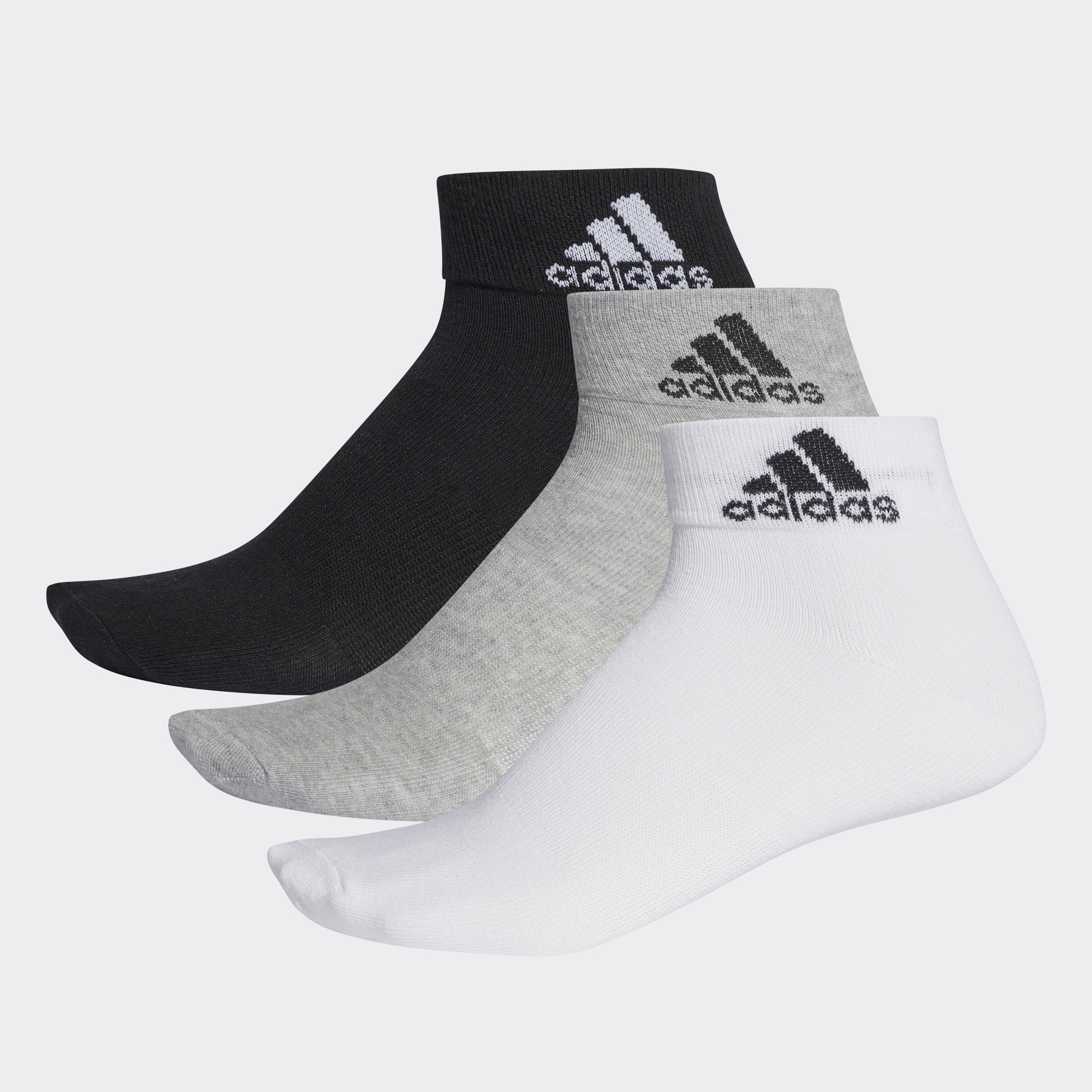 Носки для бега Adidas Per Ankle T 3pp - Moon Grey Marle / Lime Punch