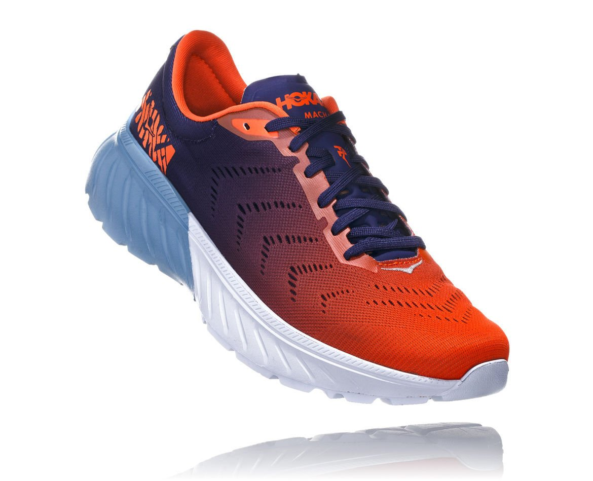 HOKA ONE ONE Mach 2 M - Patriot Blue / Nasturtium