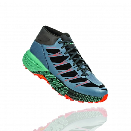 HOKA ONE ONE Speedgoat Mid WP M - Stormy Weather / Beryl Green