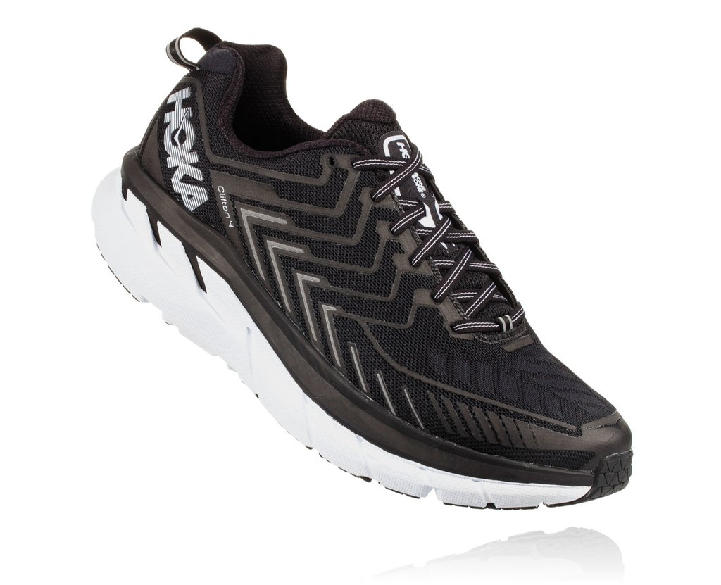 HOKA ONE ONE CLIFTON 4 M - Black / White