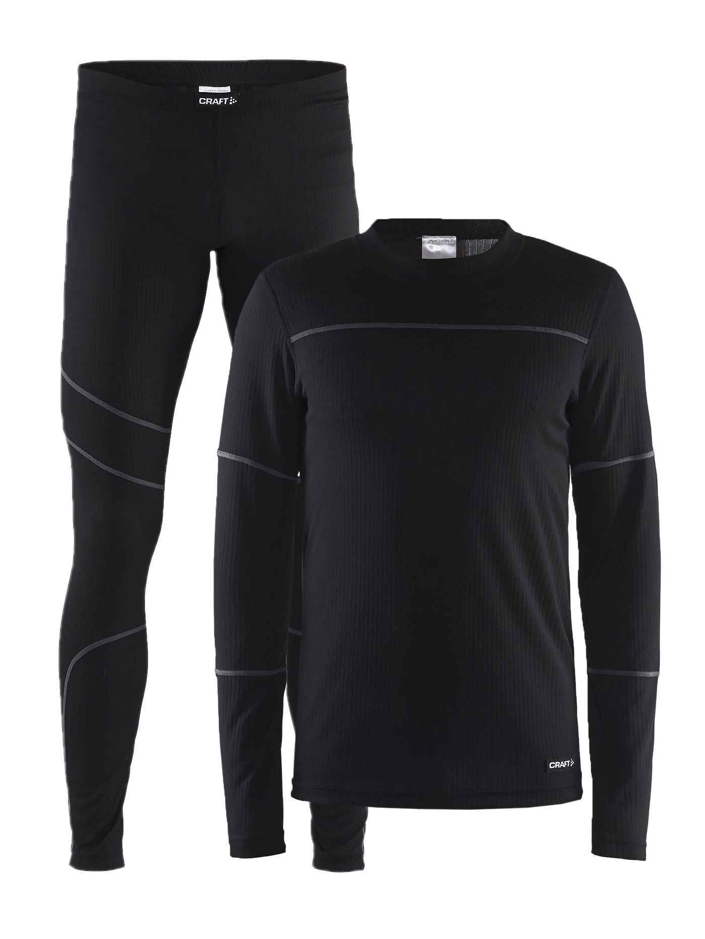 Комплект CRAFT Baselayer M - Black / Granite