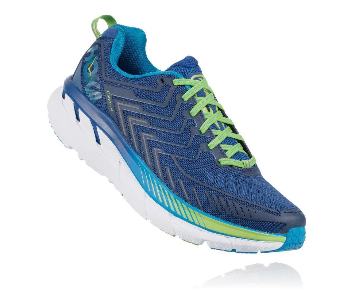 HOKA ONE ONE CLIFTON 4 M - True Blue / Jasmine Green