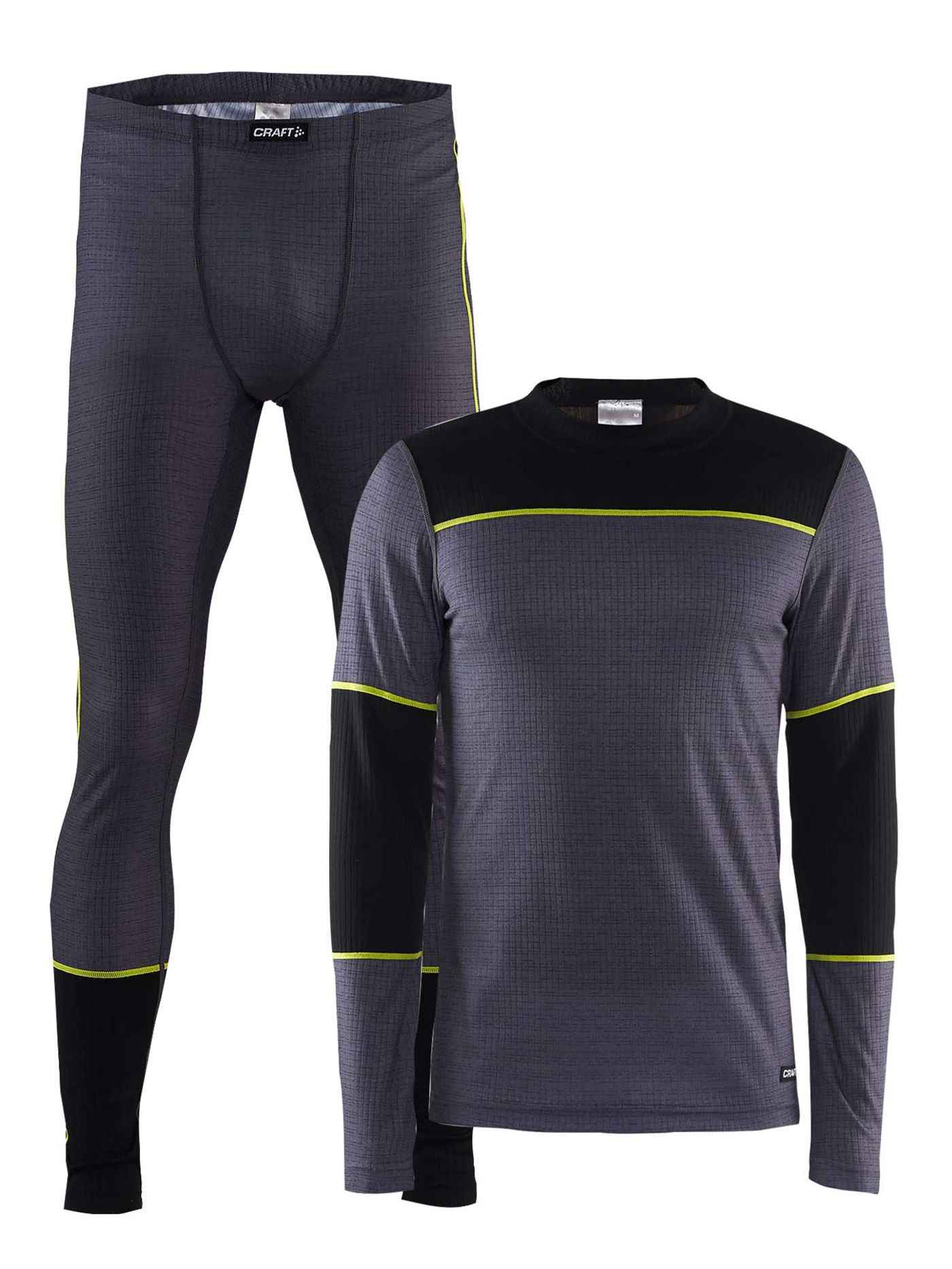 Комплект CRAFT Baselayer M - Dark Grey Melange / Black