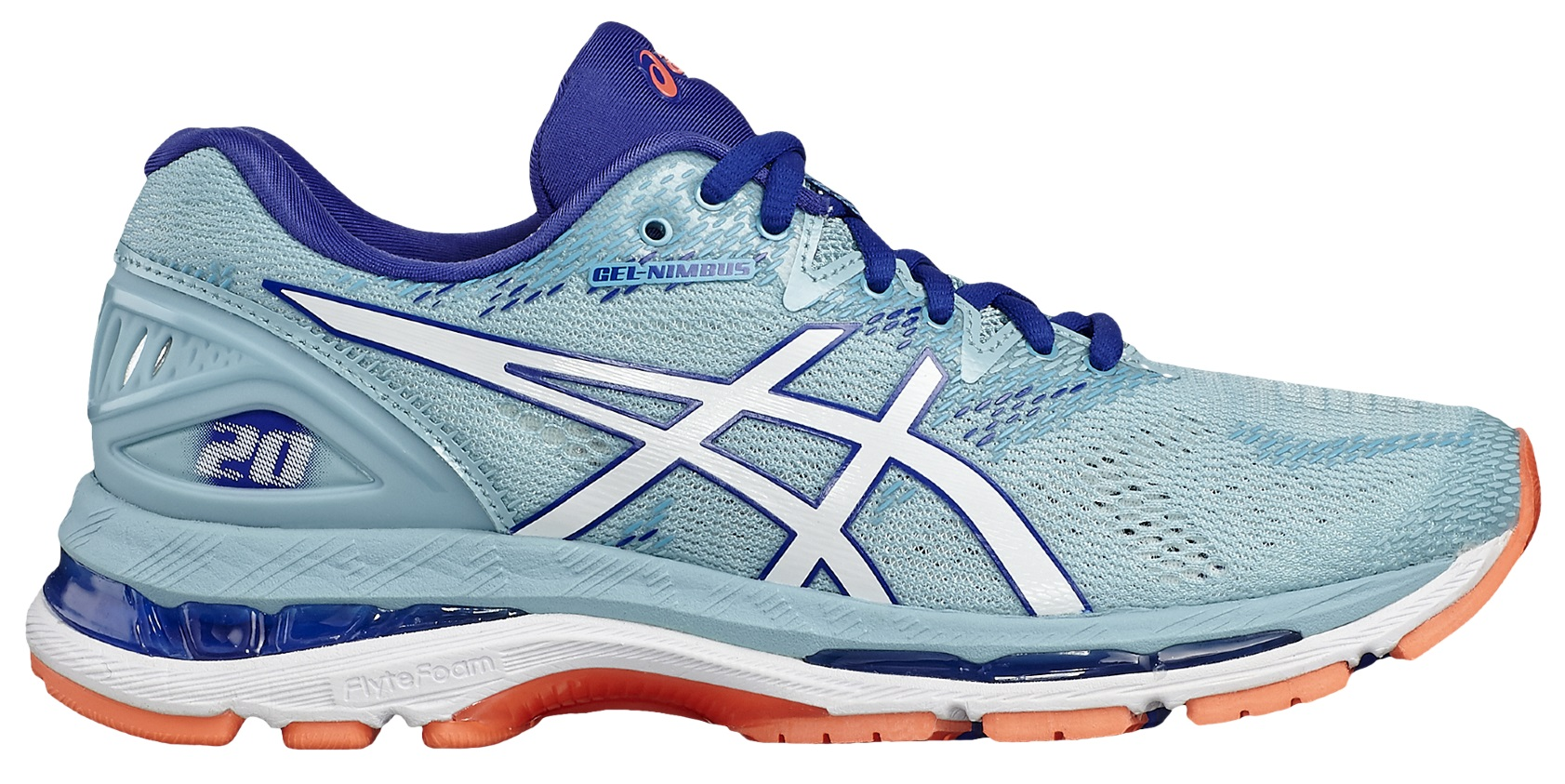 Asics GEL-NIMBUS 20 W - Porcelain Blue / White / Asics Blue