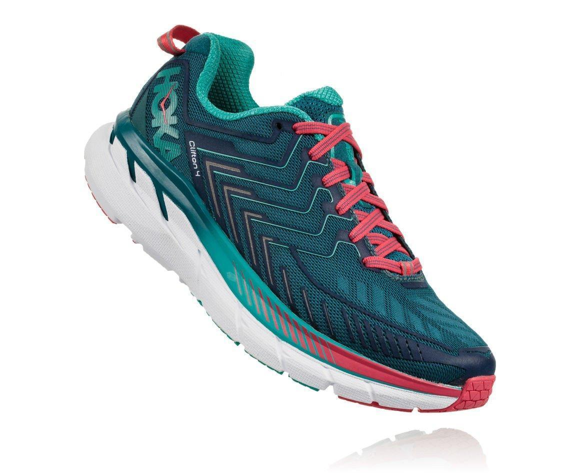 HOKA ONE ONE CLIFTON 4 W - Blue Coral / Ceramic