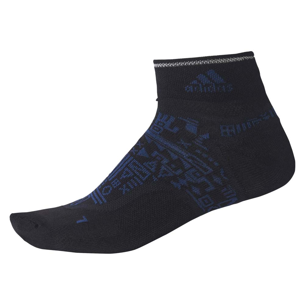 Носки для бега Adidas Light Graphic - Black / Mystery Blue / Reflective Silver