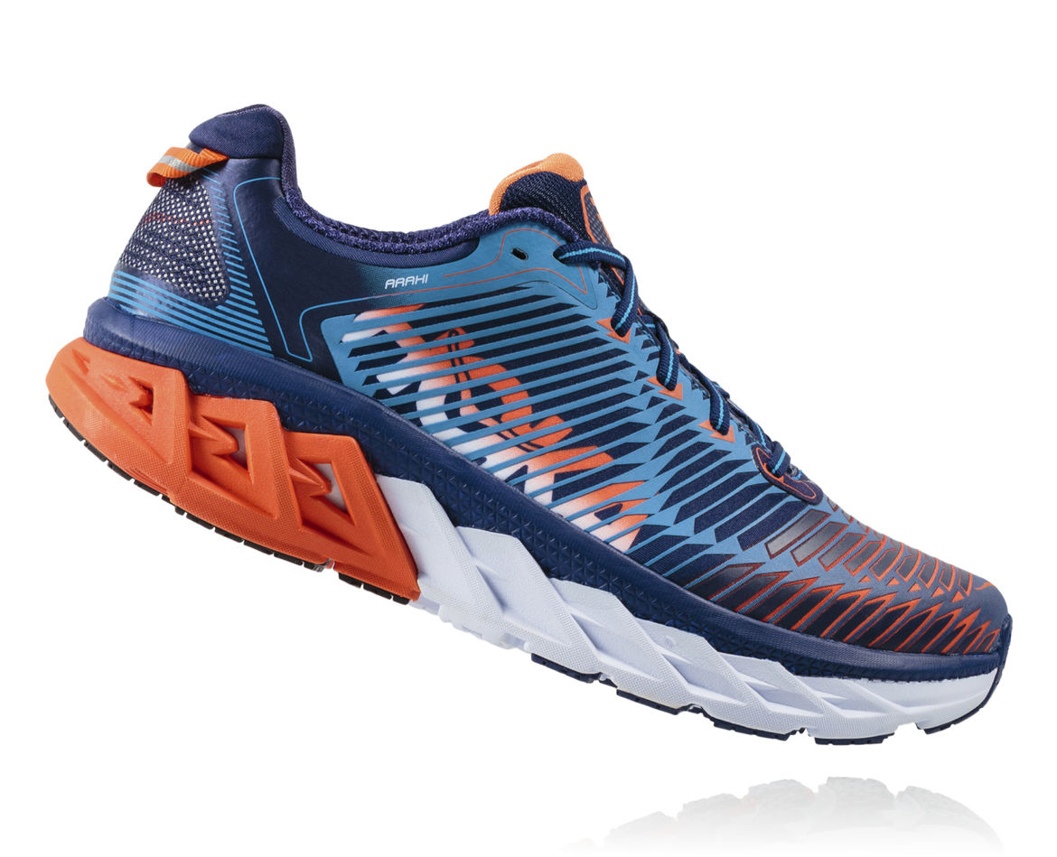 HOKA ONE ONE ARAHI M - Medieval Blue / Red Orange