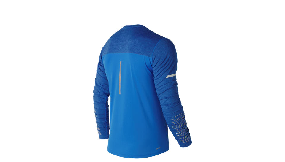 New Balance Футболка VIZ Long Sleeve M - Electric Blue
