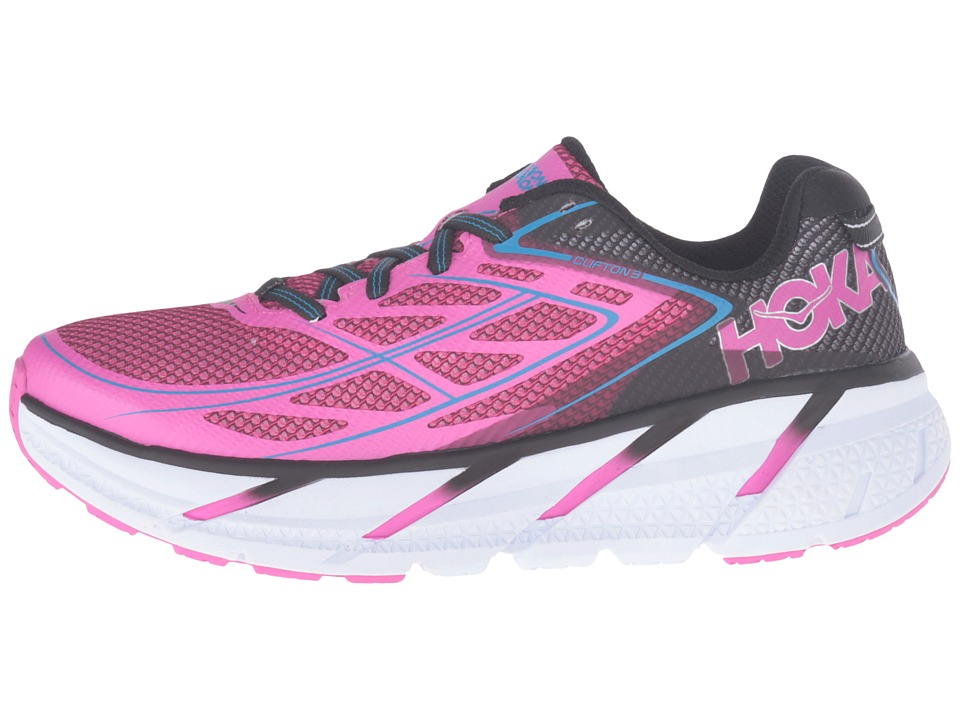 HOKA ONE ONE CLIFTON 3 W - Anthracite / Neon Fuchsia