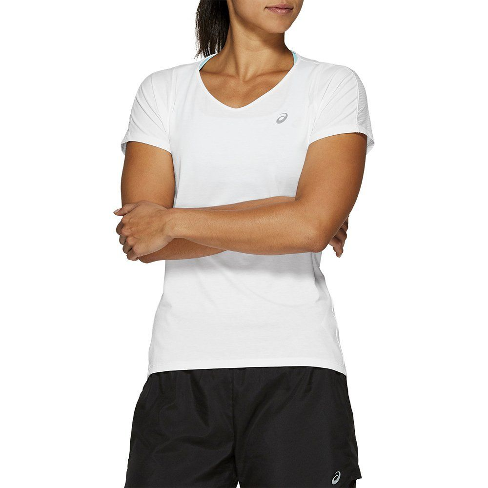 Футболка Asics V-NECK SS TOP - Brilliant White