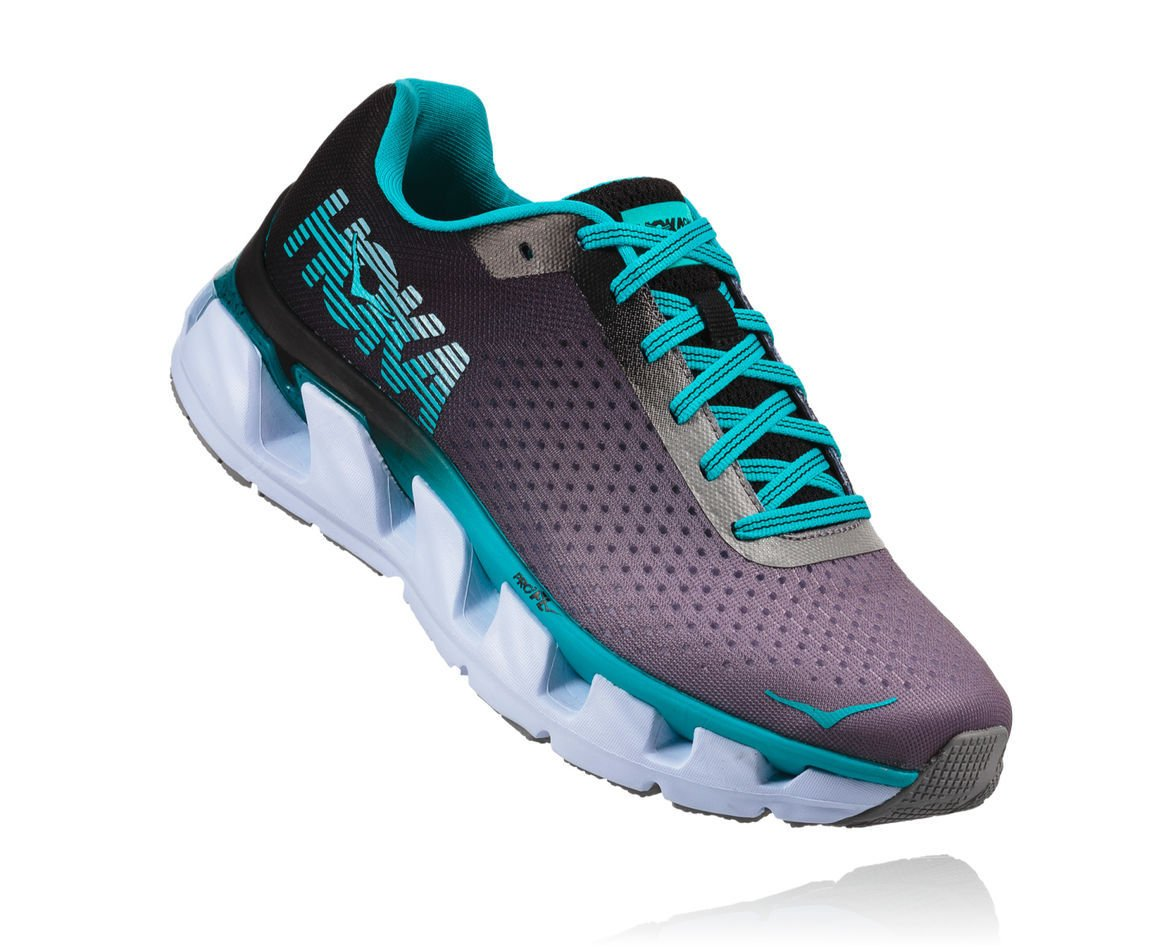 HOKA ONE ONE ELEVON W - Black / Bluebird