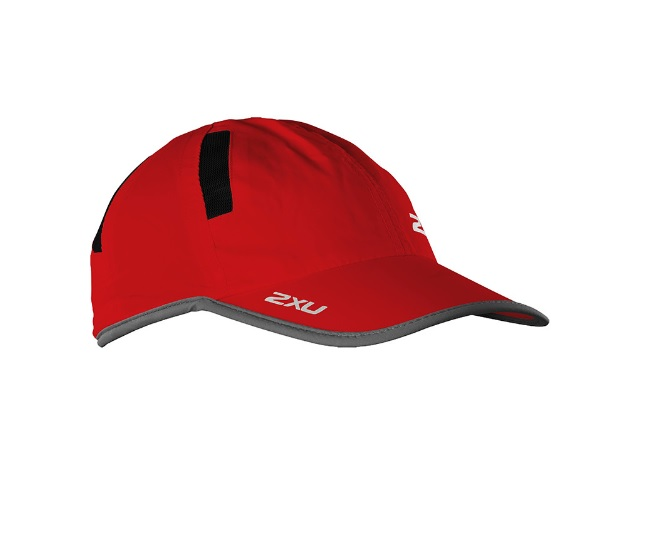 Кепка 2XU Run Cap - Flame Scarlet / Chrome