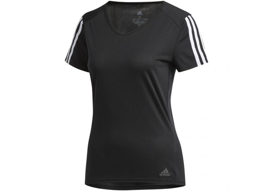 Футболка для бега Adidas Run 3S Tee W - Black / White