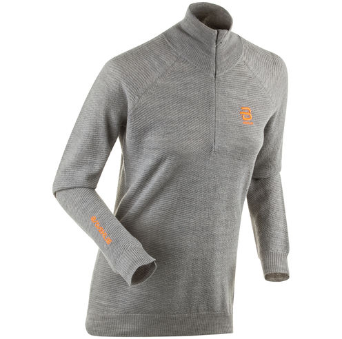 Жакет беговой Bjorn Daehlie 2018-19 Half Zip Lodge W - Light Grey Melange
