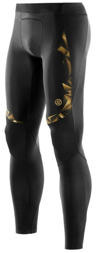SKINS Тайтсы A400 Long Tights M - Black / Gold