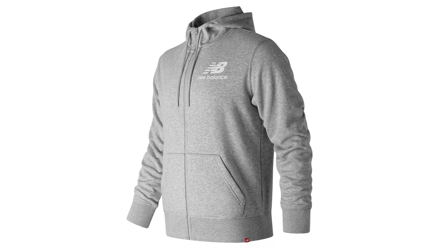 Толстовка New Balance ESSENTIALS STACKED LOGO FZ HOODIE M - Grey