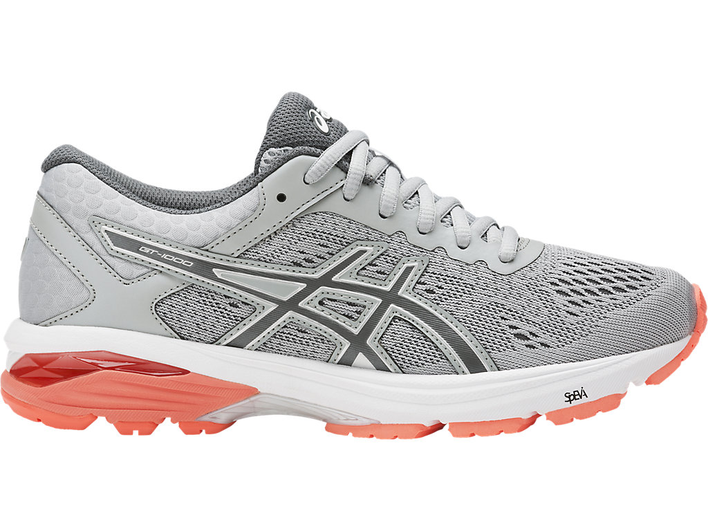 Asics GT-1000 6 W - Mid Grey / Carbon / Flash Coral