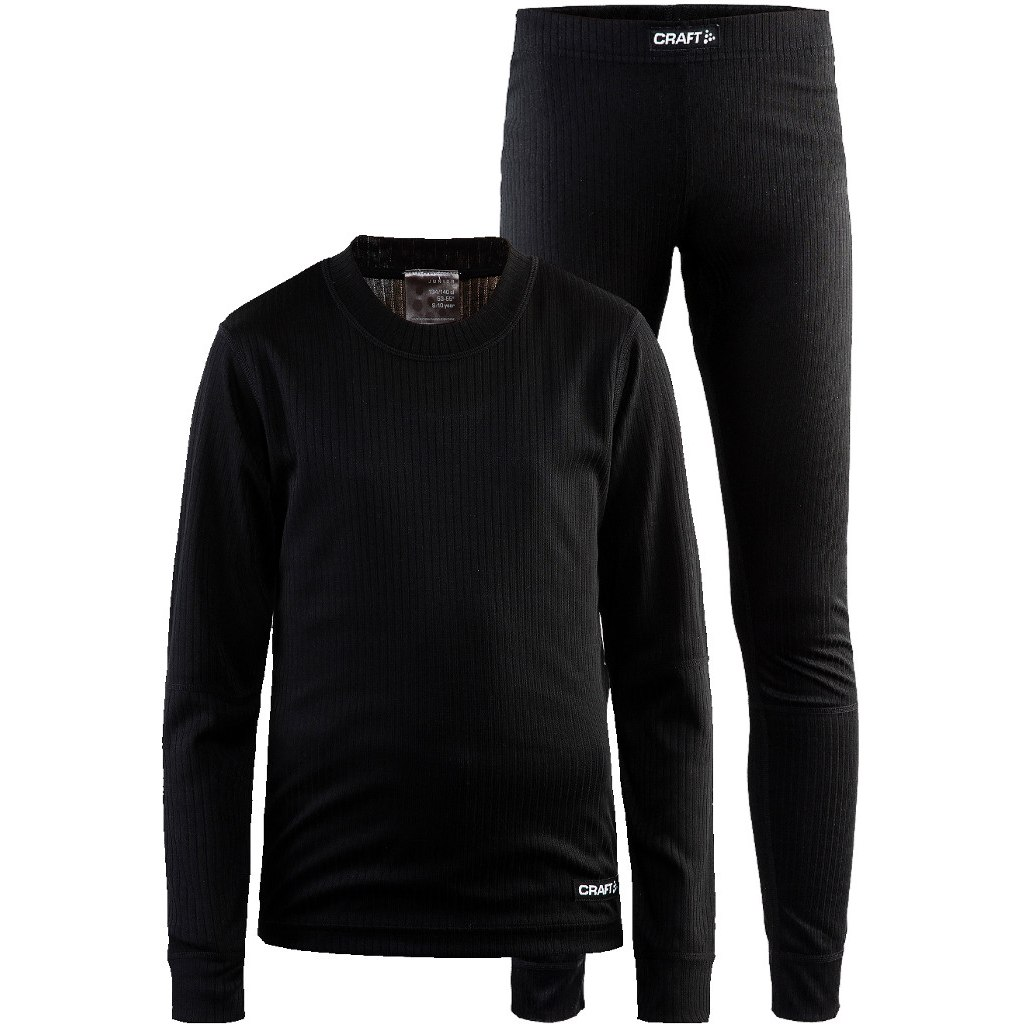 Комплект CRAFT Baselayer детский - Black