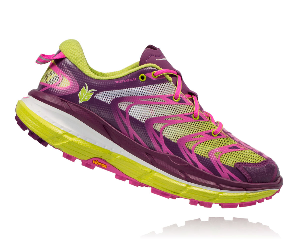 HOKA ONE ONE SPEEDGOAT W - Plum / Fuchsia / Acid