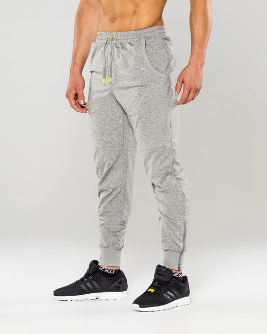 Брюки 2XU Formsoft Track Pants M - Moon Grey Marle / Lime Punch