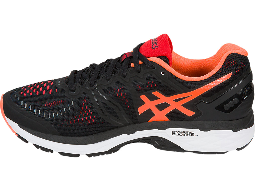 Asics GEL-KAYANO 23 M - Black / Hot Orange / Vermilion