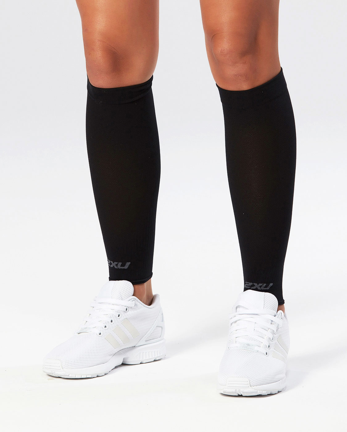 Компрессионные поддерживающие гетры 2XU Performance Run Sleeves - Black