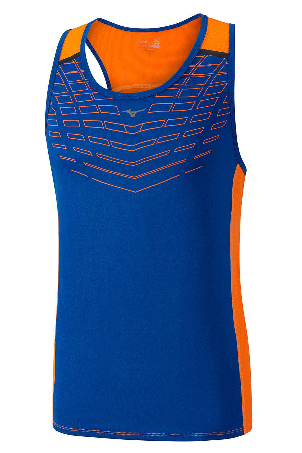 Mizuno Майка Cooltouch V Singlet - Nautical Blue / Clown Fish