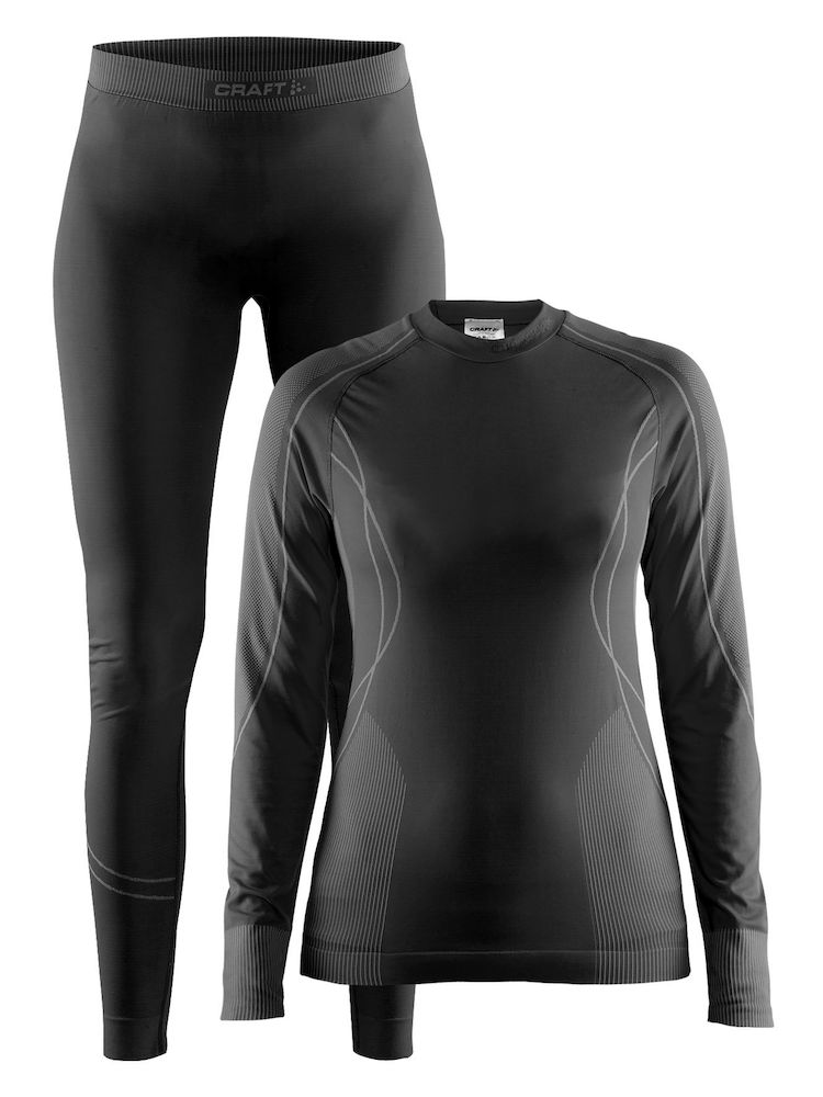 Комплект CRAFT Baselayer Seamless Zone W - Black / Granite
