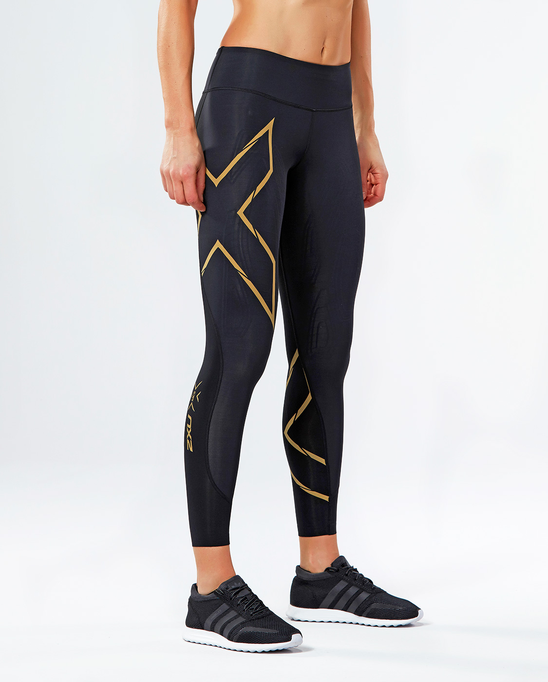 Тайтсы компрессионные 2XU MCS Run W - Black / Gold