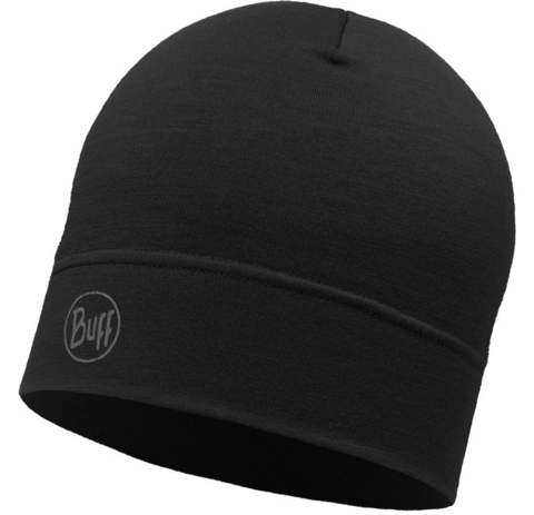 Buff Шапка BUFF HEAVYWEIGHT MERINO WOOL HAT SOLID BLACK