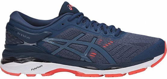 Asics GEL-KAYANO 24 W - Smoke Blue/Dark Blue/Canteloupe