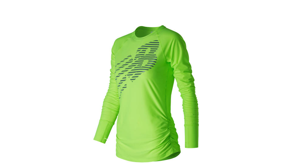 New Balance Футболка VIZ Long Sleeve W - Lime Glo