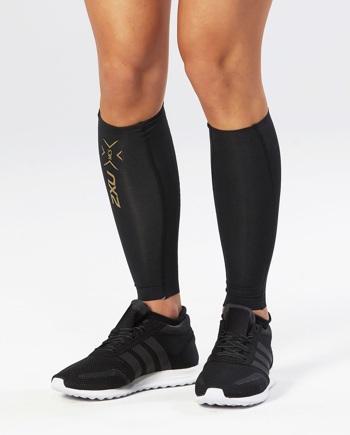 Компрессионные гетры 2XU Elite MCS Calf Guard - Black / Gold