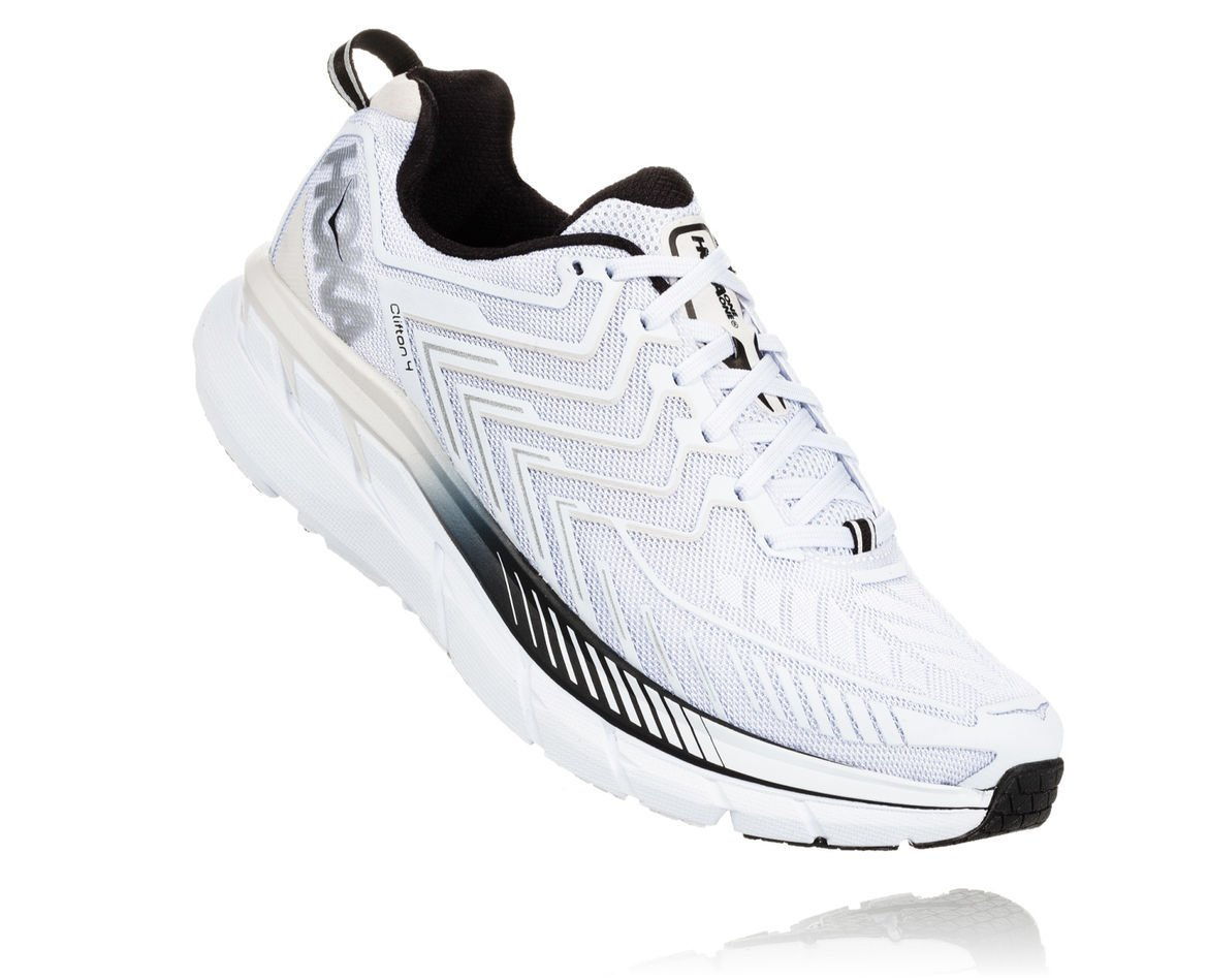 HOKA ONE ONE CLIFTON 4 M - White / Black